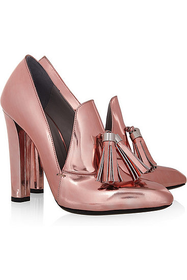 Alexander Wang Anais Metallic Leather Loafer Pumps ($650)