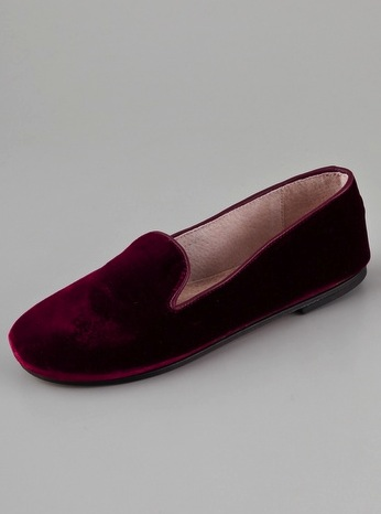 French Sole Drama Velvet Flats ($140)