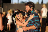 A couple of country music fans danced at the Stagecoach country music festival in Indio, CA.