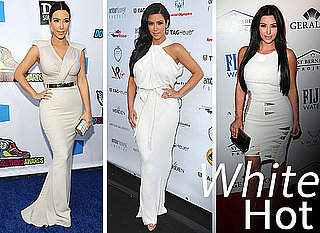 Kim Kardashian's White Dress Wedding Preparation: Pictures of the Newly Married Kim's White Wardrobe