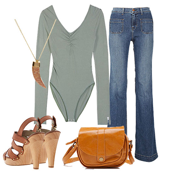 How to Wear a Bodysuit: &#039;70s Casual