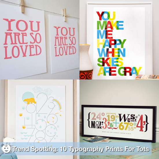 Trend Spotting: 10 Typography Prints For Tots' Rooms