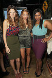 Lake Bell, Mindy Kahling, and Charlotte Ronson were photographed together at the Charlotte Ronson Beauty launch.