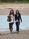 Alex Loudon Joins Kate and Pippa Middleton For a Stroll on the Beach
