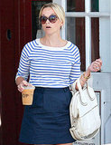 Reese Witherspoon grabbed an iced coffee before heading home.