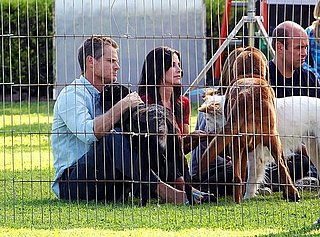 Courteney Cox Shooting Cougar Town on Set in LA Pictures
