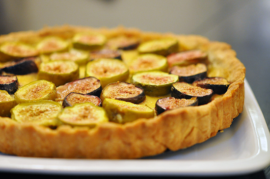 Orange Blossom and Fig Tart