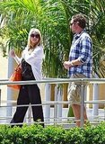 Jessica Simpson chatted with Eric Johnson in LA.