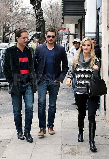 Michael Bublé and Luisana Lopilato Step Out For Day Date in Buenos Aires