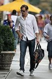 Alexander Skarsgard Looks Sexy in Shades During a Birthday Stroll