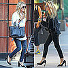 Mary-Kate and Ashley Olsen Wearing Jeans and Heels