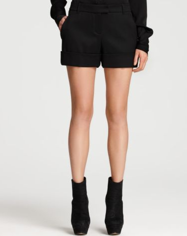 We love these polished shorts for those warmer Fall days. Rachel Zoe Cuffed Tuxedo Shorts ($195)