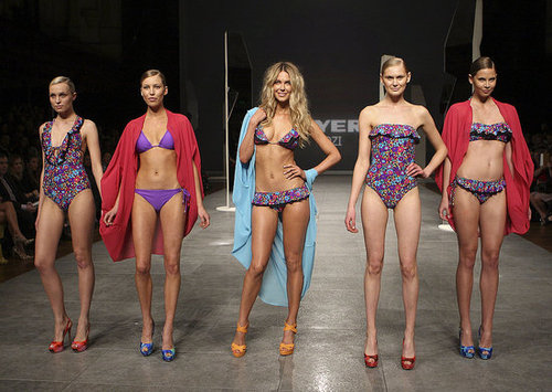 See Jennifer Hawkins Strut in Her Cozi Swimwear at Myer Mercedes Benz Fashion Festival Parade: S