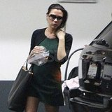 Victoria Beckham out after having baby Harper.