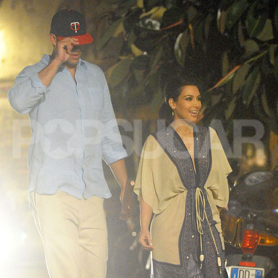 Kim Kardashian and Kris Humphries are enjoying their mini-moon in Italy.