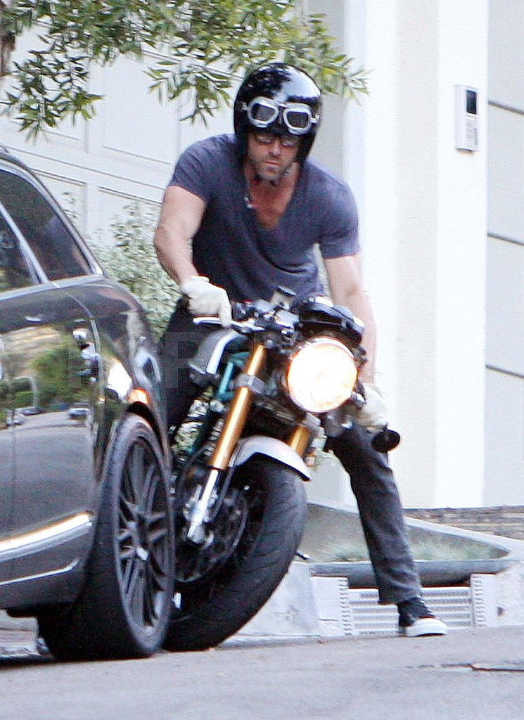 Ryan Reynolds at Sandra Bullock's house in LA.