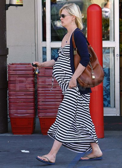 January Jones shops in LA.