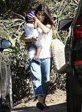 Sandra Bullock and Louis Bullock together.