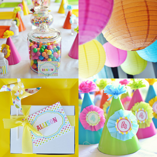Taste the Rainbow: A Rainbow Birthday Party