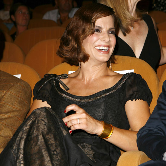 Sandra Bullock had a front row seat for a screening of Infamous in 2006.