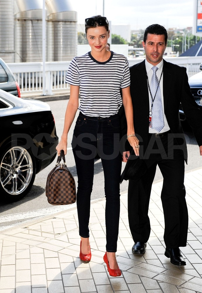 Miranda Kerr heading out in Australia.