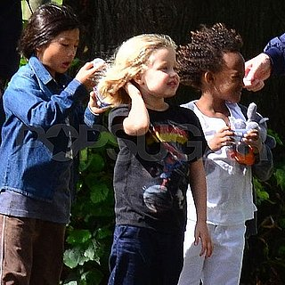 Jon Voight Pictures With Shiloh, Pax, Zahara Jolie-Pitt