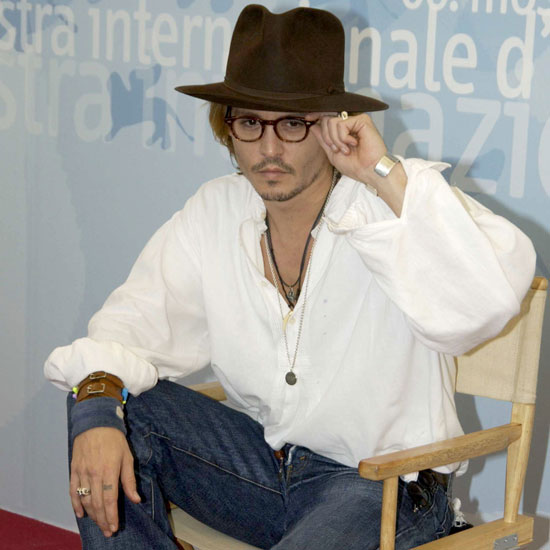 Johnny Depp promoted Once Upon a Time in Mexico in 2003.