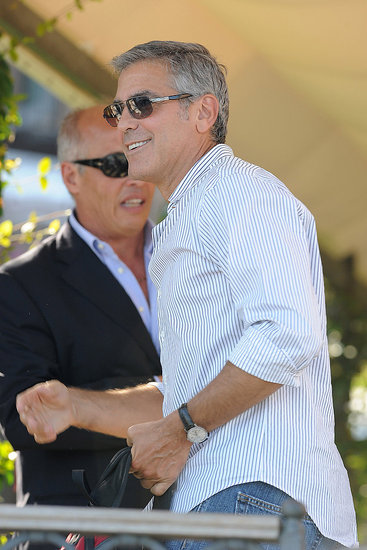 George Clooney arrives in Venice.