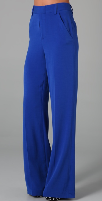 A beautiful hue in a timeless silhouette.  Alice + Olivia High Waist Wide Leg Pants ($198)