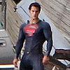 Henry Cavill on the Superman Set Pictures