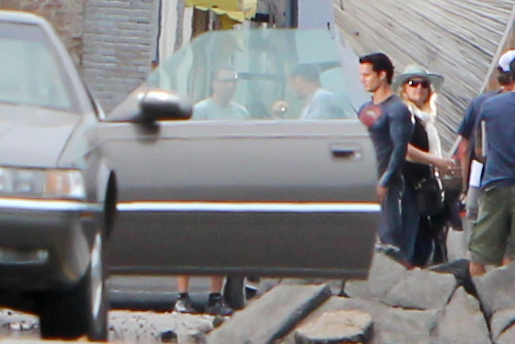 See Henry Cavill as Superman on the Set of Man of Steel!
