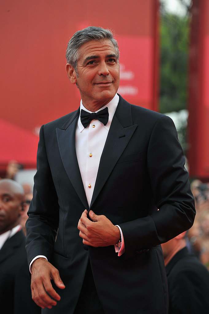 George Clooney at The Ides of March premiere in Venice.