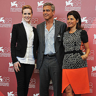 George Clooney in Venice With Marisa Tomei, Evan Rachel Wood