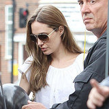 Angelina Jolie hangs out in London.
