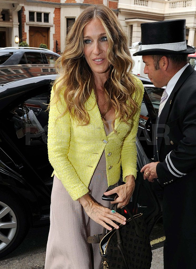 Sarah Jessica Parker at her London hotel.