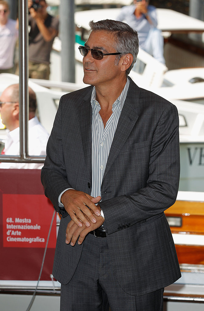 George Clooney looked handsome in his suit!