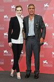 George Clooney with Evan Rachel Wood, in Dolce & Gabanna.