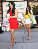 Kim Kardashian and Kourtney Kardashian.