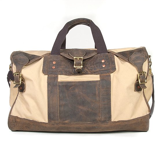 Tan Oats Snap Duffle