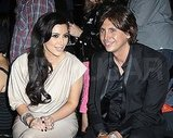 Kim Kardashian and Jonathan Cheban at Justin Timberlake's surprise show at Southern Hospitality.