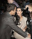 Kim Kardashian and Kris Humphries at Justin Timberlake's surprise show at Southern Hospitality.
