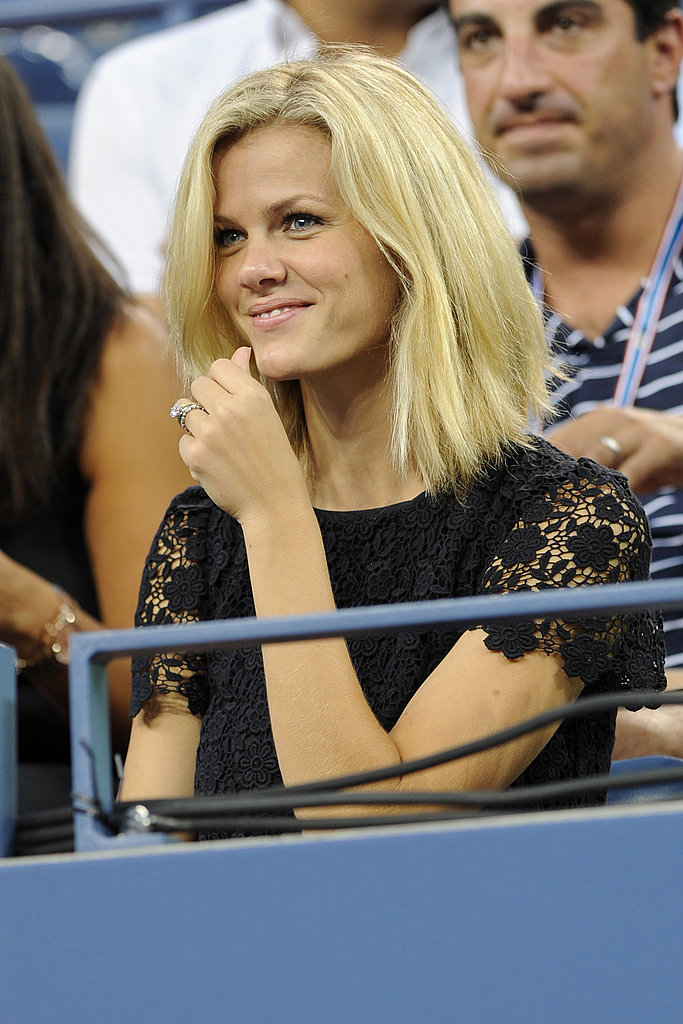 Brooklyn Decker watched from the stands at the US Open.