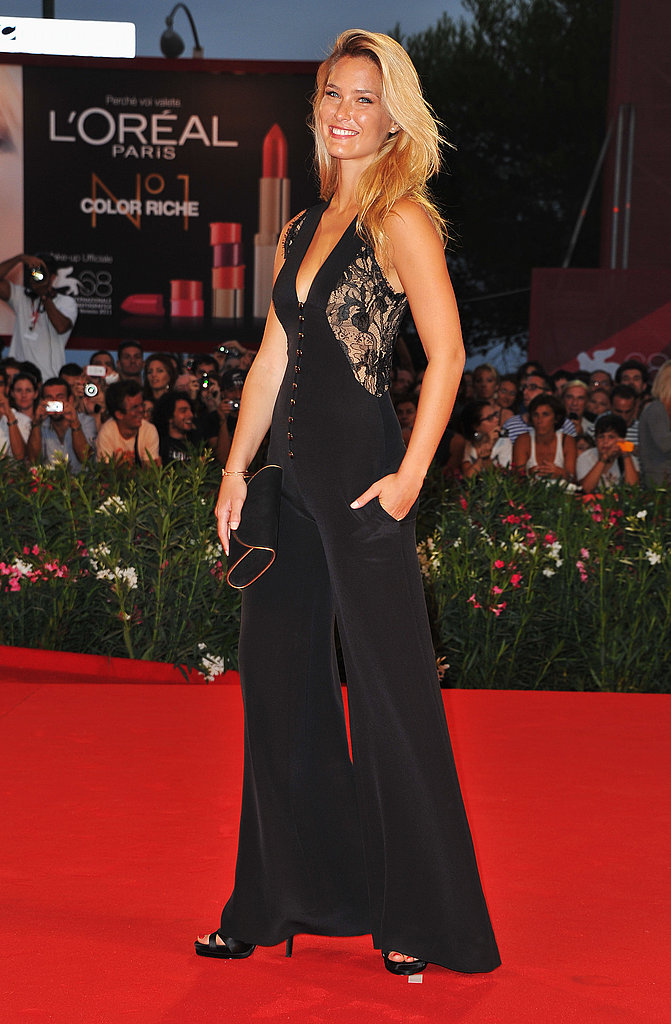 Bar Refaeli at the Carnage premiere in Venice.
