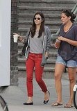 Jessica Biel went casual on a coffee break.