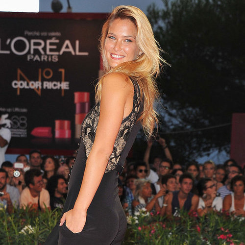 Bar Refaeli in a Pantsuit at the Venice Film Festival