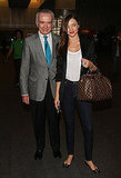 Miranda Kerr arrives in Mexico City.