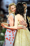 Madonna hugged Andrea Riseborough.