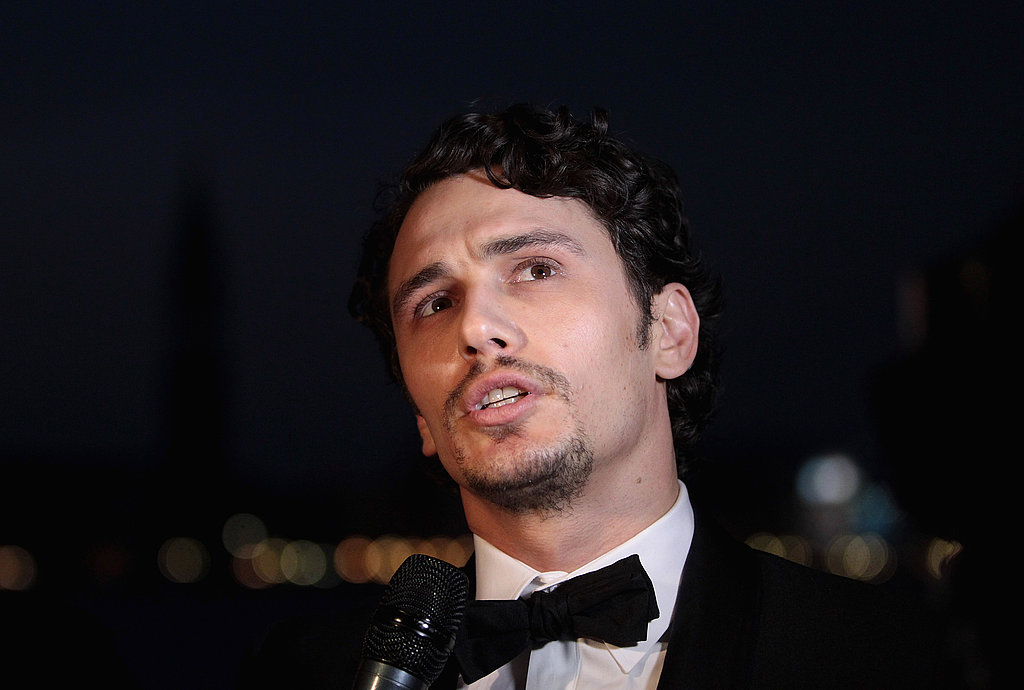 James Franco took the podium at the Gucci event.
