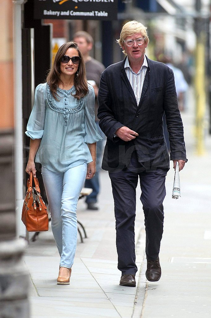 Pippa Middleton talks to a male friend.
