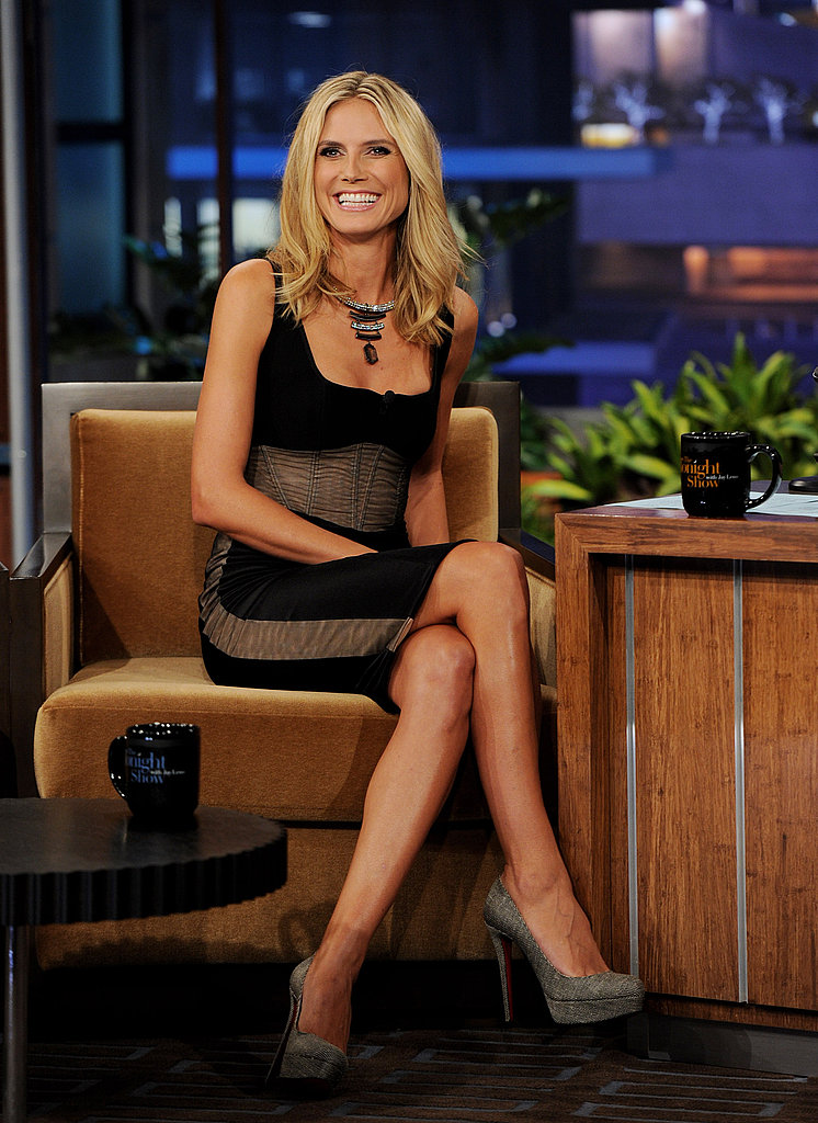 Heidi Klum showed a lot of leg.